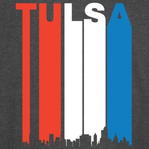 Red White And Blue Tulsa Oklahoma Skyline - Vintage Sport T-Shirt