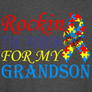 Rockin The Ribbon For My Grandson Awareness - Vintage Sport T-Shirt