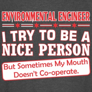 Environmental Eng Nice Persn Mouth Doesnt Cooperte - Vintage Sport T-Shirt