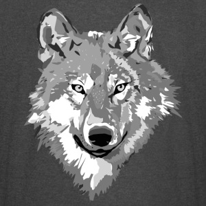 Wolf Face Gray-scale - Vintage Sport T-Shirt