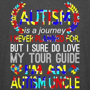 Autism Is Journey Never Planned Im An Autism Uncle - Vintage Sport T-Shirt