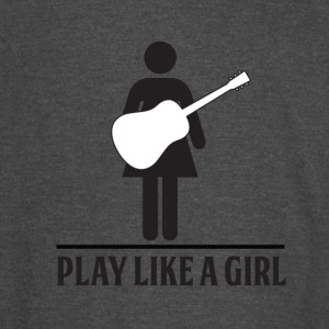 Play like a Girl - Acoustic - Vintage Sport T-Shirt