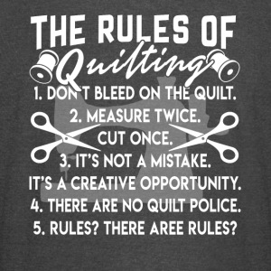 THE RULES OF QUILTING SHIRT - Vintage Sport T-Shirt