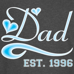 Dad Established 1996 Happy Fathers Day - Vintage Sport T-Shirt