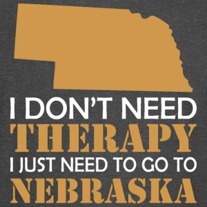 I Dont Need Therapy I Just Want To Go Nebraska - Vintage Sport T-Shirt