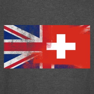 British Swiss Half Switzerland Half UK Flag - Vintage Sport T-Shirt