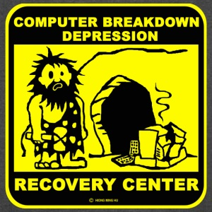 Computer breakdown depression recovery center T Sh - Vintage Sport T-Shirt