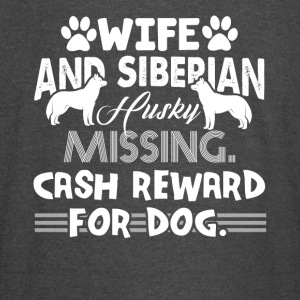 WIFE AND SIBERIAN HUSKY MISSING SHIRT - Vintage Sport T-Shirt