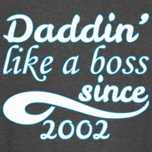 Daddin Like A Boss Since 2002 Happy Fathers Day - Vintage Sport T-Shirt