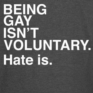 lgbt t-shirt gay | isn't voluntary hate is - Vintage Sport T-Shirt