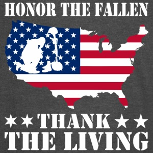 Honor The Fallen Thank The Living Memorial Day - Vintage Sport T-Shirt
