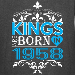 Kings Are Born In 1958 Happy Fathers Day - Vintage Sport T-Shirt