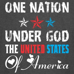 One Nation Under God The United States Of America - Vintage Sport T-Shirt