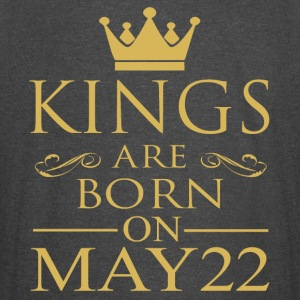 Kings are born on May 22 - Vintage Sport T-Shirt