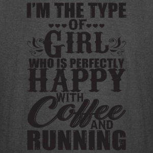 Happy With Coffee And Running T Shirt - Vintage Sport T-Shirt