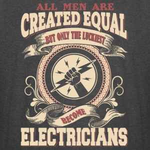 The Luckiest Men Become Electricians - Vintage Sport T-Shirt