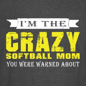 I'm The Crazy Softball Mom T Shirt - Vintage Sport T-Shirt