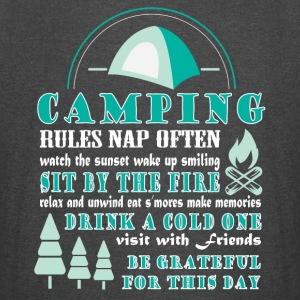 Camping Rules T Shirt - Vintage Sport T-Shirt