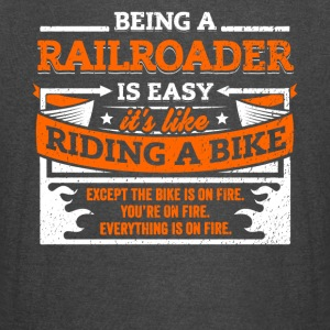 Railroader Shirt: Being A Railroader Is Easy - Vintage Sport T-Shirt