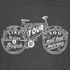Einstein quotes - Life is Like Riding a Bicycle - Vintage Sport T-Shirt