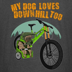 My dog loves downhill too - Vintage Sport T-Shirt