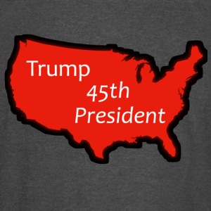 Trump 45th President (Bold Red USA) - Vintage Sport T-Shirt