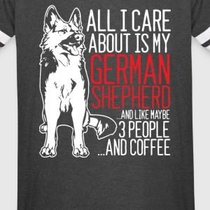 ALL I CARE ABOUT IS MY GERMAN SHEPHERD - Vintage Sport T-Shirt