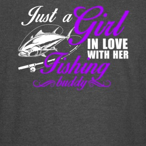 Girl In Love With Her Fishing Buddy Shirt - Vintage Sport T-Shirt