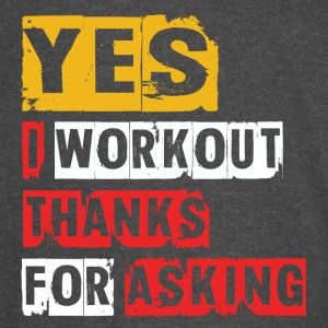 Yes I Workout - Vintage Sport T-Shirt