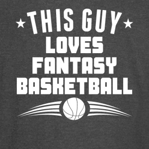 This Guy Loves Fantasy Basketball Funny - Vintage Sport T-Shirt