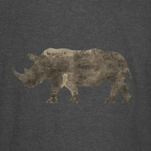 Silhouette Jungle Series Rhino - Vintage Sport T-Shirt