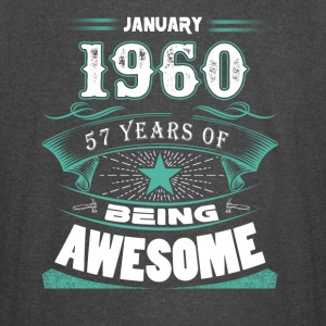 January 1960 - 57 years of being awesome (v.2017) - Vintage Sport T-Shirt
