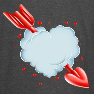 Valentine s Day Cloud Heart love tshirt - Vintage Sport T-Shirt