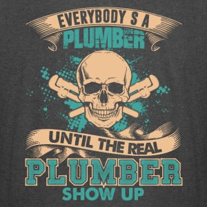The Real Plumber Shows Up Shirt - Vintage Sport T-Shirt