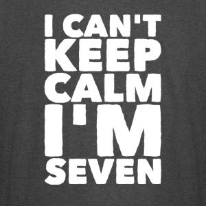 I can't keep calm I'm seven - Vintage Sport T-Shirt