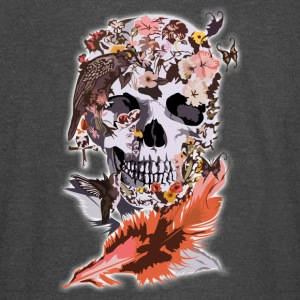 Birds, butterfly and Sugar Skull - Vintage Sport T-Shirt