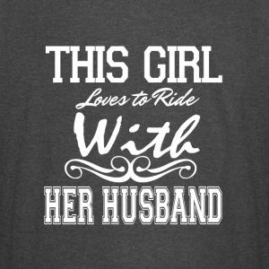 This Girl Loves To Ride With Her Husband T Shirt - Vintage Sport T-Shirt
