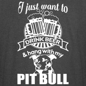 Drink Beer And Hang With My Pit Bull T Shirt - Vintage Sport T-Shirt