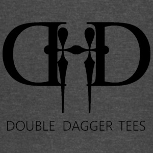 Double Dagger Logo Design on Mens and Womens Shirt - Vintage Sport T-Shirt