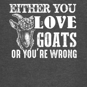 Love or Wrong Goat Shirt - Vintage Sport T-Shirt