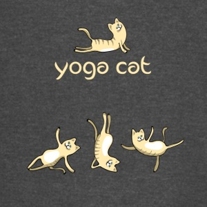yoga Cat namaste shiva woman fun buddha cute humor - Vintage Sport T-Shirt