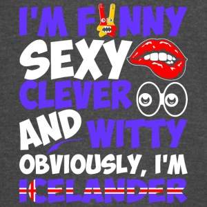 Im Funny Sexy Clever And Witty Im Icelander - Vintage Sport T-Shirt