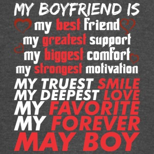 My Boyfriend Is May Boy - Vintage Sport T-Shirt
