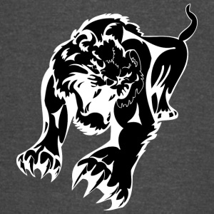 attacking_tiger_black - Vintage Sport T-Shirt