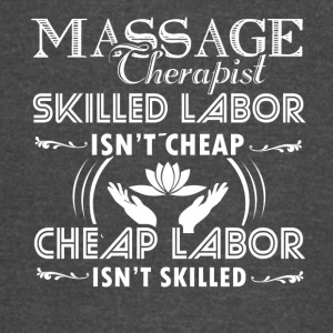 Skilled Massage Therapist Shirt - Vintage Sport T-Shirt