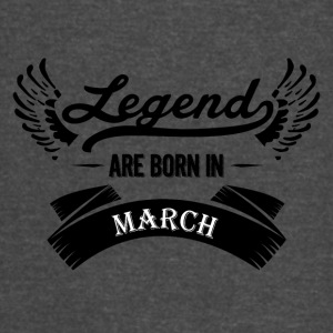 Legends are born in March - Vintage Sport T-Shirt