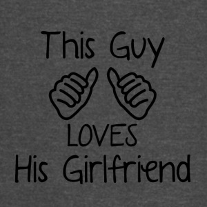 This Guy loves his Girlfriend - Vintage Sport T-Shirt