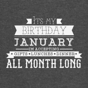 January its my birthday month - Vintage Sport T-Shirt