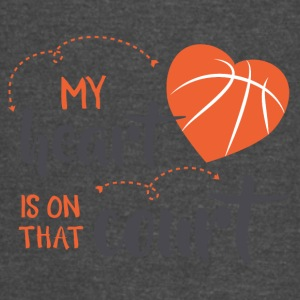 my heart is on that court - Vintage Sport T-Shirt