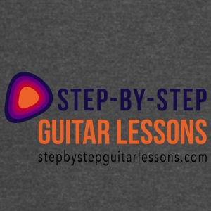 Step-by-step Guitar Lessons Logo Dark - Vintage Sport T-Shirt